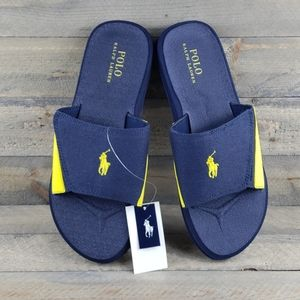 Polo Ralph Lauren Slide Sandals Blue Yellow